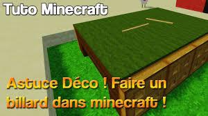 deco chambre minecraft billard dans minecraft astuce déco tuto minecraft youtube