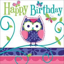 Happy Birthday Owl Meme - 3 ply lunch napkins happy birthday owl pal birthday case of 192