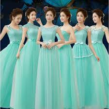 six styles elegant mint green bridesmaid dresses lace corset back