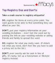 what stores do wedding registry wedding registry etiquette 101 nuptialism wedding