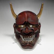 mask for sale hannya vintage japanese lacquered wooden noh mask 2044