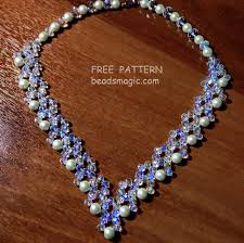 pattern crystal necklace images Free pattern for necklace evita beads magic jpg