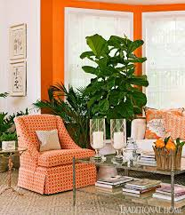 Home Decor A Sunset Design Guide Decorating With Orange An Instant Pick Me Up Traditional Home