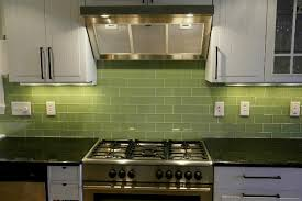 Green Glass Tile Kitchen Backsplash Roselawnlutheran - Green glass backsplash tile