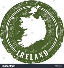 vintage style ireland country stamp stock vector 130311386