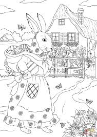 rabbit mother and rabbit daughter are ready for the journey on