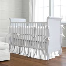 Navy Blue And White Crib Bedding Set Solid White Baby Crib Bedding Collection Carousel Designs Baby