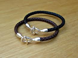 braided leather cuff bracelet images 2x couples bracelets matching bracelets leather cuff braided jpg