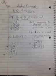 unit 3 operations with decimals 6th grade mathmrs phillips