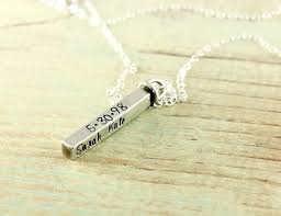personalized silver bar necklace personalized sterling silver swivel bar necklace at sweet blossom gifts