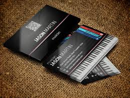 Business Card Music 25 Free Psd Business Card Template Designs Designmaz