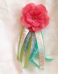 how to make a baby shower corsage inspired baby shower projects between weekdays