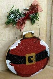 craft santa ornament wood craft wood made