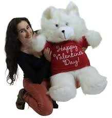 big bears for valentines day happy valentines day white 36 inch teddy soft wears