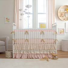 Navy Blue Chevron Crib Bedding by Pale Pink And Gold Chevron Crib Bedding Carousel Designs