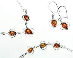 amber earrings necklace images Silver and amber jewelry set honey amber drop jewelry jpg