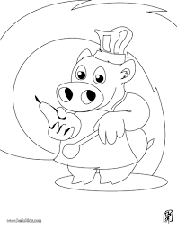 pig the little chef coloring pages hellokids com