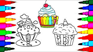 how to draw rainbow cup cakes unicorn cupcakes house theme