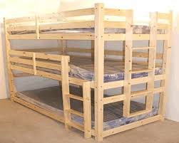 Lovable  Tier Bunk Bed  Tier Heavy Duty Wooden Triple Bunk Beds - Triple bunk beds with mattress