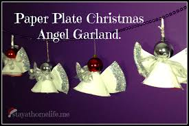 paper plate angel garland u2013 christmas craft stay at home life
