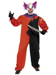 killer clown costume mens scary killer clown costume mask circus fancy