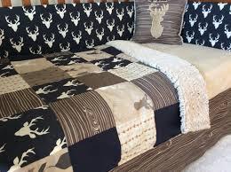 Forest Bedding Sets Crib Or Toddler Bed Set Woodland Nursery Navy Brown