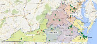 Virginia Regions Map by Regional Organization And Leadership