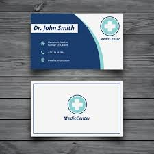 Free Business Card Designs Templates Modern Medical Business Card Template Vector Free Download