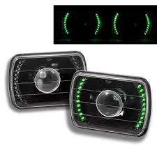 light green jeep cherokee jeep cherokee 1979 2001 green led black sealed beam projector