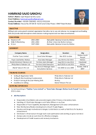 Sample Resume For Zonal Sales Manager by Unit Manager Cv