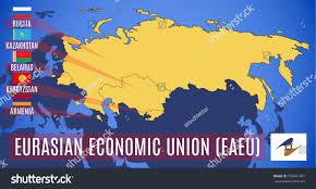 russia map belarus vector schematic map member states eurasian stock vector 538401481