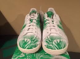 adidas x pharrell williams palm tree stan smith green white