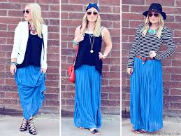 3 ways to wear it how to style a chiffon maxi skirt more com