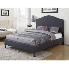 Tufted King Bed Frame Acme Furniture Clyde Upholstered King Bed Gray Walmart