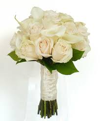 wedding flowers roses calla and bridesmaid bouquet wedding flowers