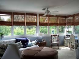 Sunrooms Ideas Sunroom Window Ideas With Fan Also Unique Curtains And Sofa