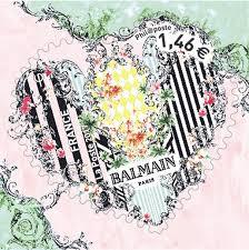 la poste timbre mariage feuille de 30 timbres coeur balmain 100g boutique