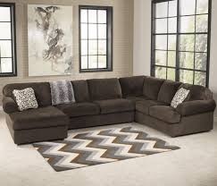 Ashley Furniture Leather Sectional Jessa Place Chocolate Sectional Sofa With Left Chaise By