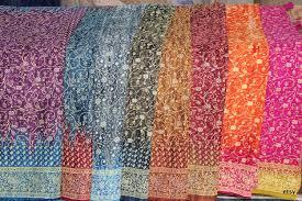 Sari Fabric Curtains Sari Window Curtain Purple Teal Colors By Padmini