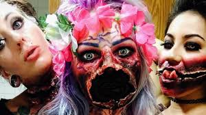Scary Zombie Halloween Makeup by Halloween Make Up That Will Scare You To Death Youtube