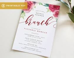 bridal shower invitations brunch bridal shower brunch etsy
