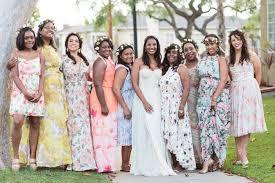 floral bridesmaid dresses floral bridesmaid dresses are the trend in wedding attire