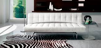 sofa bed contemporary leather with removable cover pierrot