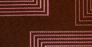 Graphic Upholstery Fabric Graphic Square Salmon On Brown