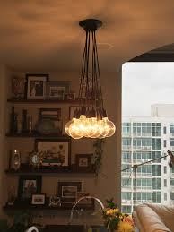 Cloth Cord Pendant Light 9 Cluster Pendant Light Modern Chandelier With Color Cloth Cord