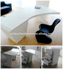 new design sale curved office desk high gloss white office