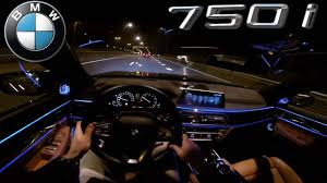 Bmw I8 Night - pov bmw 7 series night drive interior lighting youtube