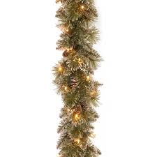 loon peak green pine garland with 50 clear lights reviews wayfair