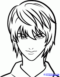 how to draw light yagami easy death note step by step anime