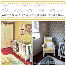 Gray And Yellow Nursery Decor Swoon Worthy Yellow And Gray Stenciled Nurseries Stencil Stories